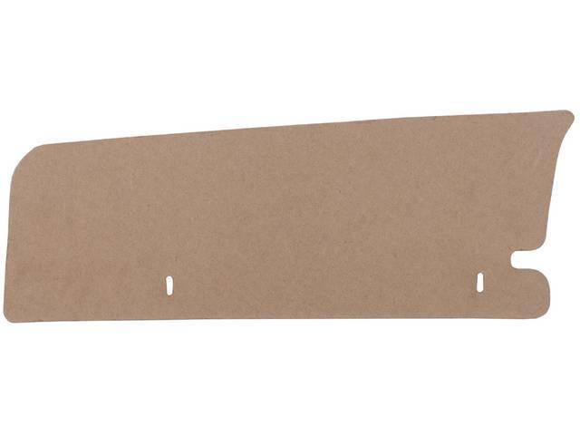 FILLER BOARD Trunk Side LH to quarter panel