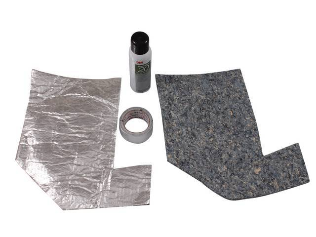 ACOUSTI-SHIELD SET, Cowl Panel, sound and thermal insulation