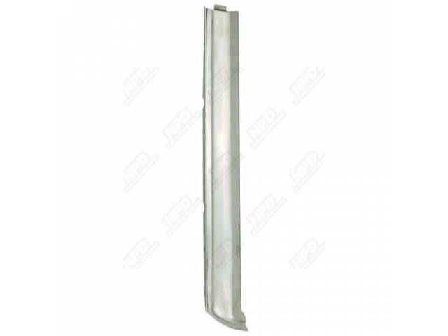 MOLDINGS WINDSHIELD SIDE REPRO POLISHED STAINLESS PAIR