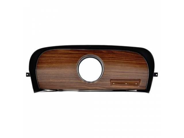 TRIM PANEL, Dash, RH, deluxe, walnut woodgrain, plastic