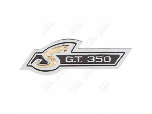 EMBLEM INSTRUMENT PANEL G T 350 REPRO