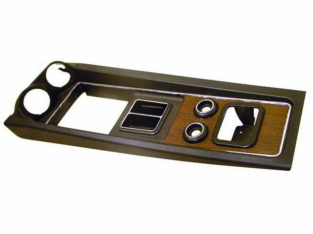 UPPER PLATE, CONSOLE, REPRO, BLACK PLASTIC, HOLES FOR