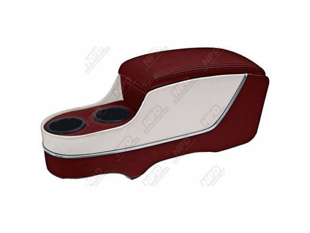 CONSOLE Custom Deluxe with chrome trim red with
