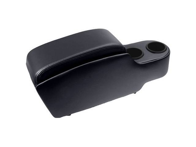 CONSOLE, Custom, Standard, black, fits over trans tunnel