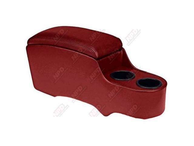 CONSOLE, Custom, Standard, bright red, fits over trans