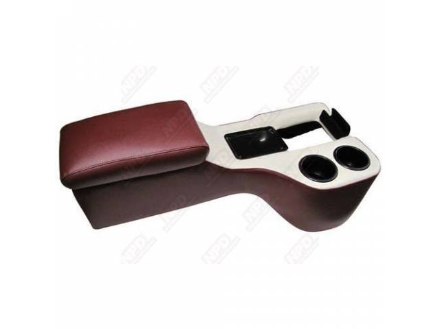 CONSOLE, HUMP CRUISER, DARK RED AND WHITE