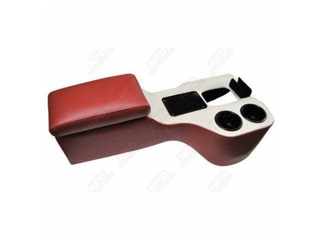 CONSOLE, SADDLE CRUISER, RED AND WHITE
