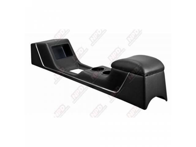CONSOLE Sport Deluxe black vinyl chrome trim strip