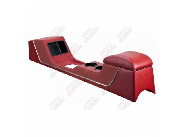 CONSOLE Sport Deluxe red vinyl chrome trim strip
