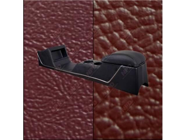 CONSOLE Sport Deluxe maroon sierra vinyl w/ maroon