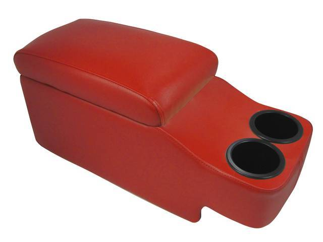 CONSOLE, SADDLE HUGGER, RED, fits over top of