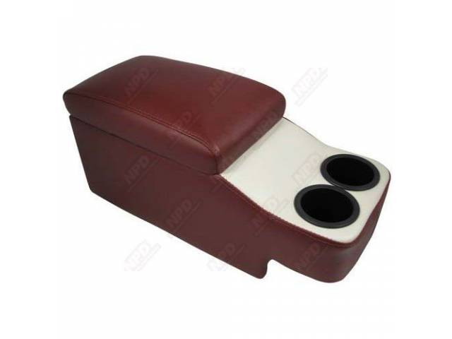 CONSOLE SADDLE HUGGER DARK RED AND WHITE fits