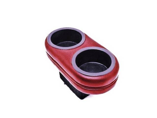CUP HOLDER, PLUG AND CHUG, Dark RED, HOLDS