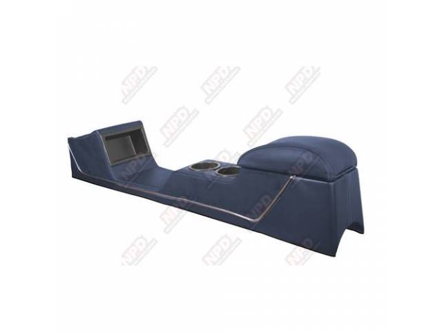 CONSOLE Sport Deluxe dark blue vinyl chrome trim