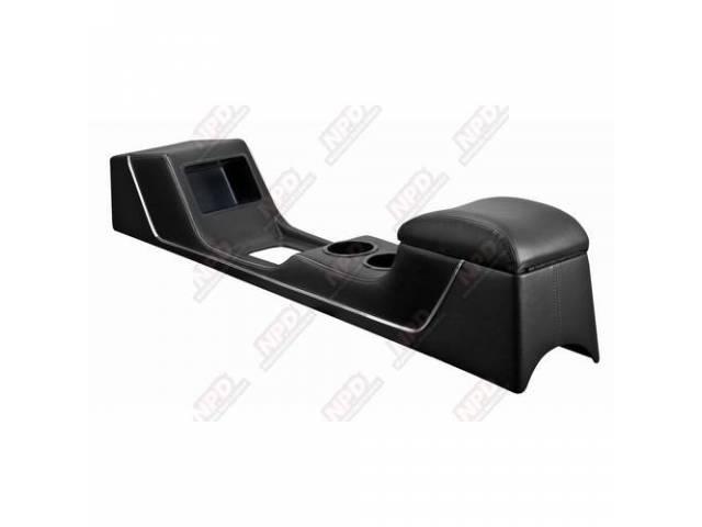 CONSOLE Sport Deluxe black vinyl chrome trim strip