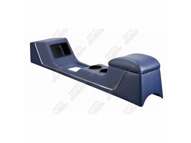 CONSOLE Sport Deluxe dark blue vinyl chrome trim