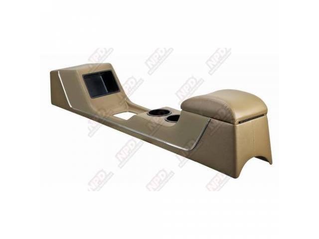 CONSOLE Sport Deluxe parchment vinyl chrome trim strip