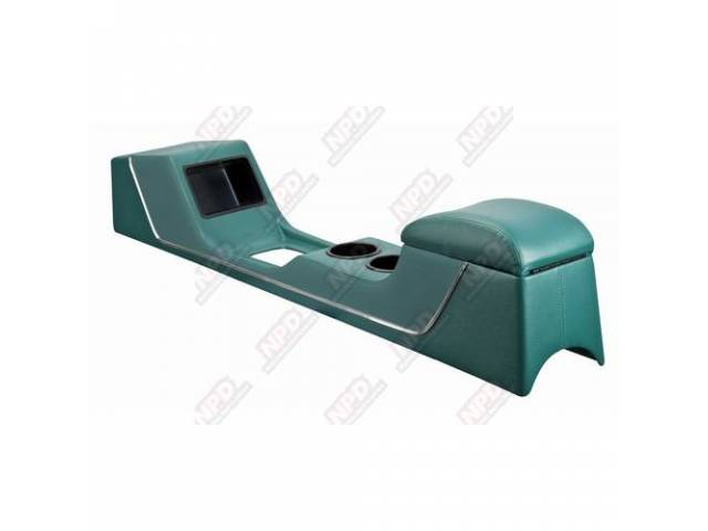 CONSOLE Sport Deluxe light aqua vinyl chrome trim