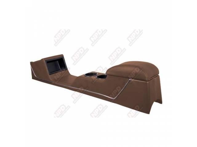CONSOLE Sport Deluxe saddle vinyl chrome trim strip