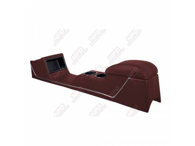 CONSOLE Sport Deluxe maroon vinyl chrome trim strip