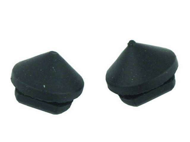 BUMPERS, Rubber, PAIR, ALSO WORKS FOR 65-66 SPEAKER