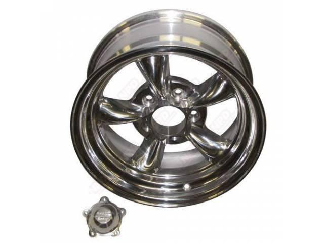 Wheel, Torq-Thrust Ii, Polished One Piece Alloy, 15