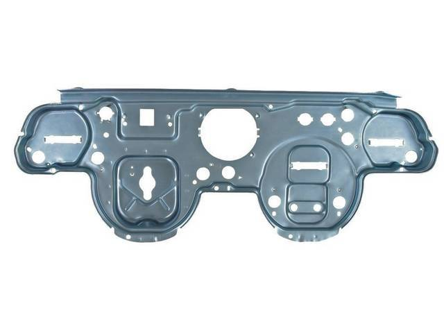 BACKING PLATE, INSTRUMENT CLUSTER, REPRO, SILVER ZINC PLATED