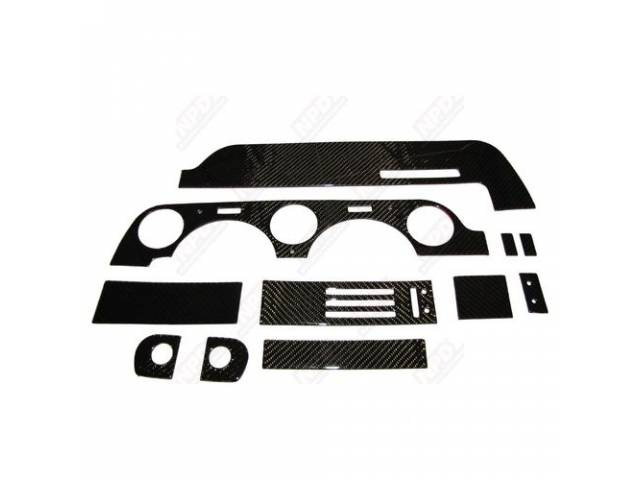 DASH KIT CARBON FIBER 3M ADHESIVE BEZEL GLOVEBOX