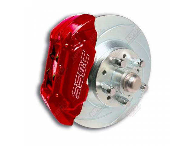 SSBC DISC BRAKE CONVERSION KIT, FRONT, DISC TO
