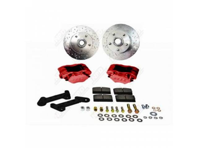 DISC BRAKE CONVERSION KIT Comp S red powder
