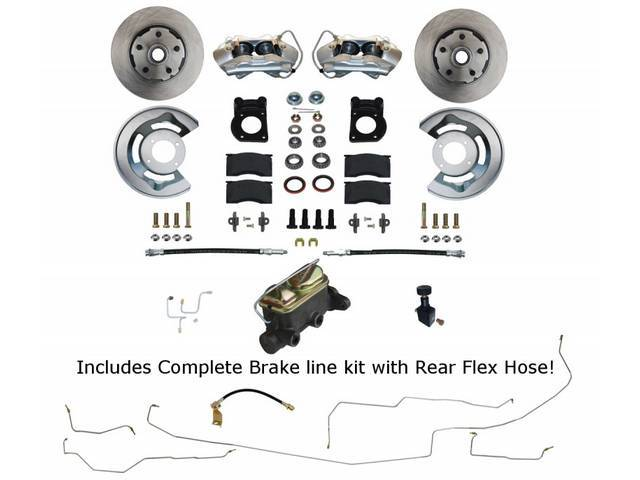 DISC BRAKE CONVERSION, Front, by Leed Brakes, Add