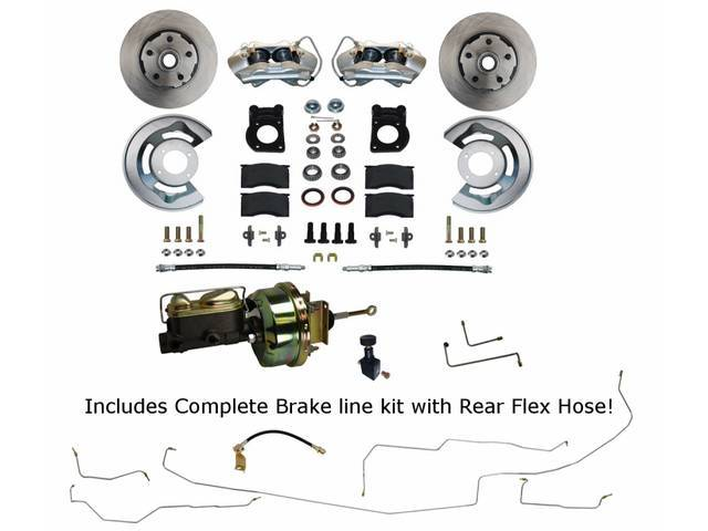 POWER DISC BRAKE CONVERSION, Front, by Leed Brakes,
