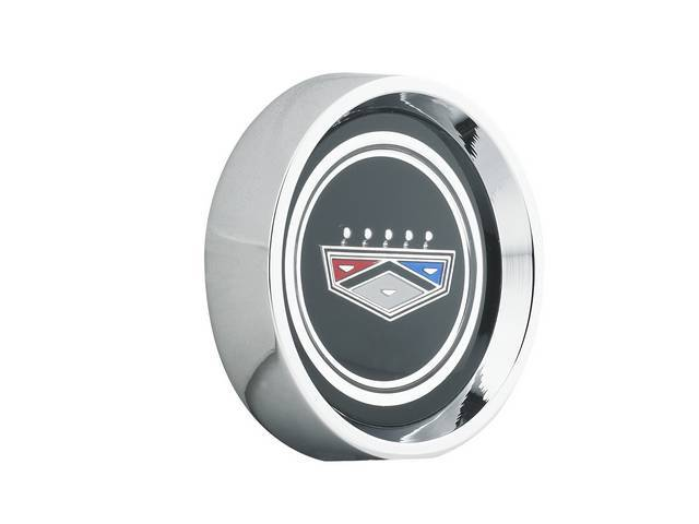 CENTER CAP, Die Cast, black Ford crown logo,