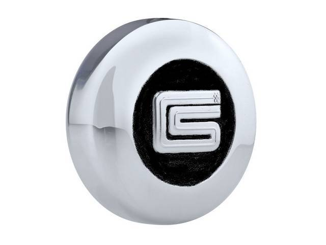 CENTER CAP, Shelby *CS* logo, Die Cast, chrome