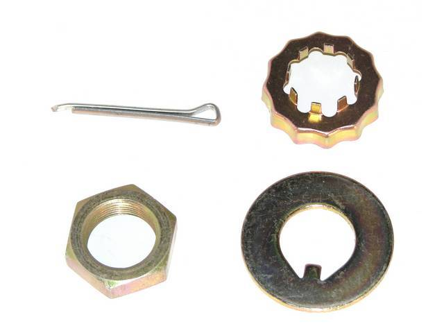 RETAINER KIT, SPINDLE, 13/16 INCH-20 NUT, WASHER, RETAINER