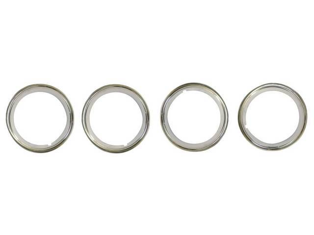 TRIM RINGS, Wheel, outer, replacement style, set of
