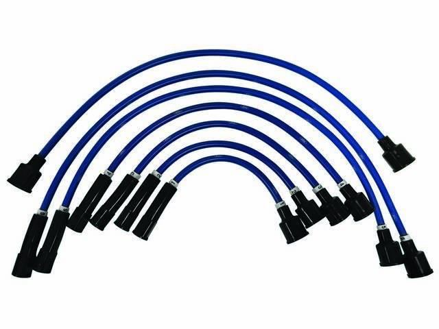 SPARK PLUG WIRE SET, Performance 8mm, ** BLUE