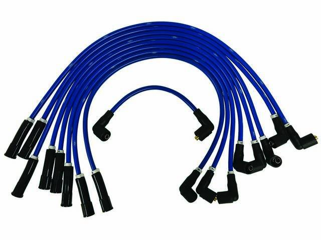 SPARK PLUG WIRE SET, Performance 8mm, blue with