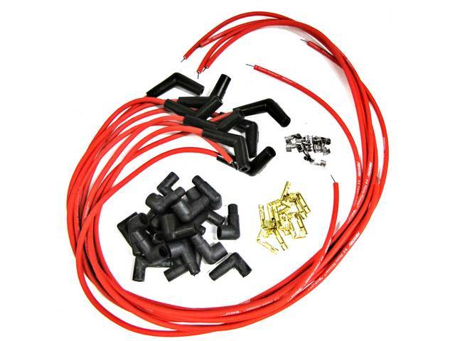 FLAME THROWER IGNITION WIRES, 8 MM RED, 115