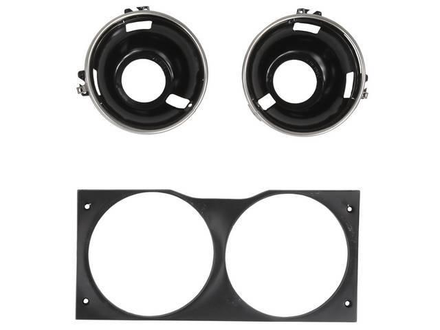 Headlight ASSY, RH, NOS, incl 2 C7AZ-13015-B rings,
