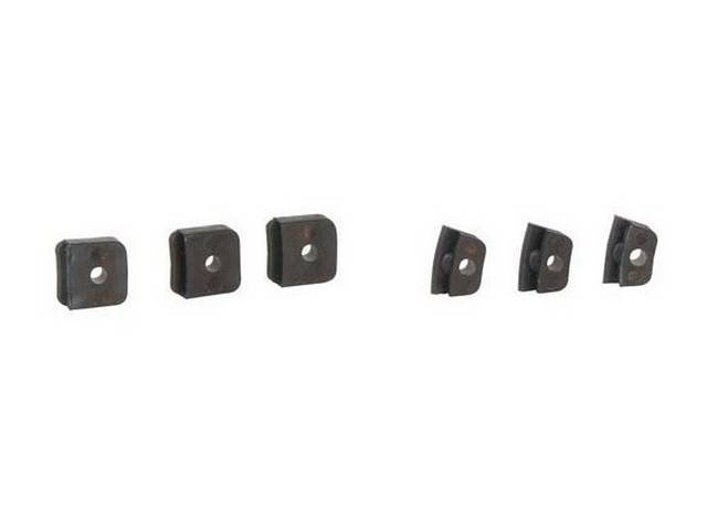 INSULATOR SET, DELUXE CONTACT PLATE, (6), for upper
