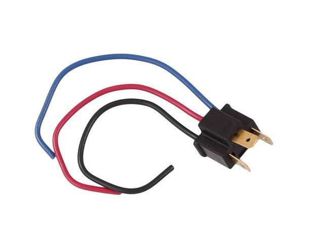 REPLACEMENT PIGTAIL, Headlight, H4 style, male plug for