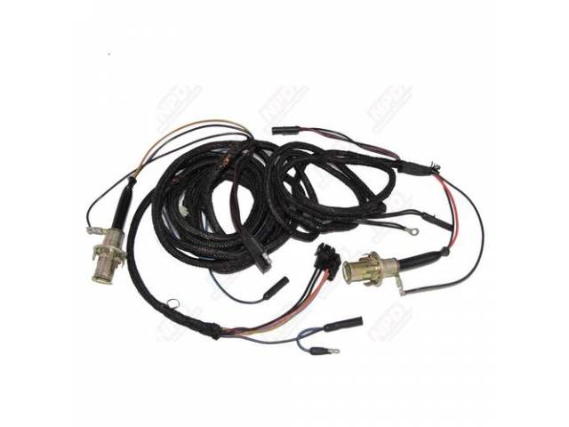 Taillight HARNESS incl factory style heat sealed sockets