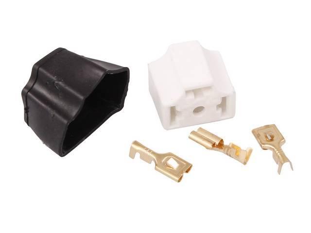 PLUG KIT, Headlight, H4 style, female plug with