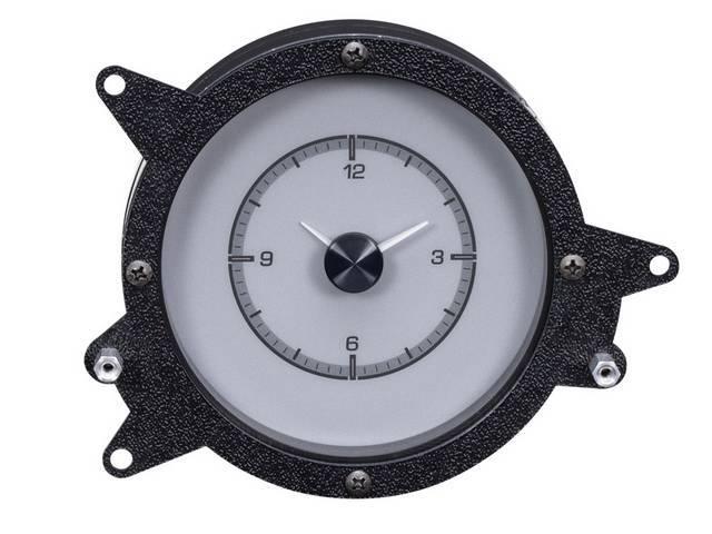 CLOCK, Custom Dakota Digital HDX, round, silver alloy