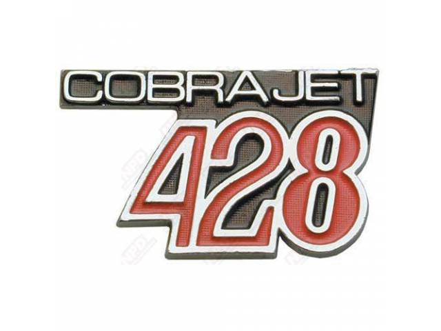 Nameplate Cobra Jet 428 This Part Is Made