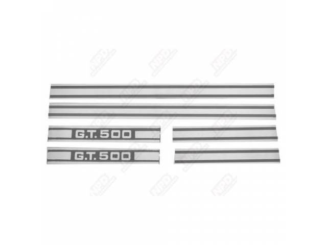 STRIPE KIT, GT-500, WHITE, US-made, automotive grade 3M