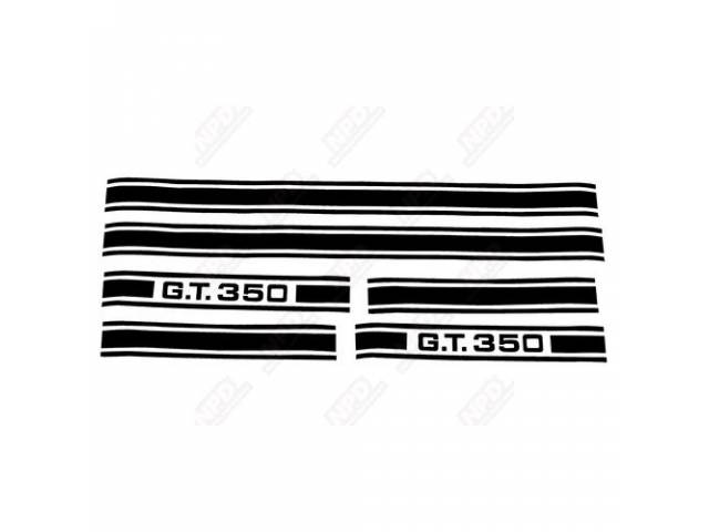 STRIPE KIT GT-350 BLACK US-made automotive grade 3M