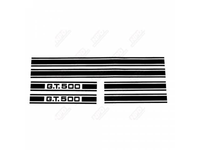 STRIPE KIT, GT-500, BLACK