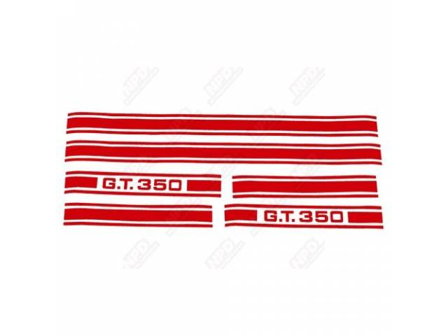 STRIPE KIT GT-350 RED US-made automotive grade 3M